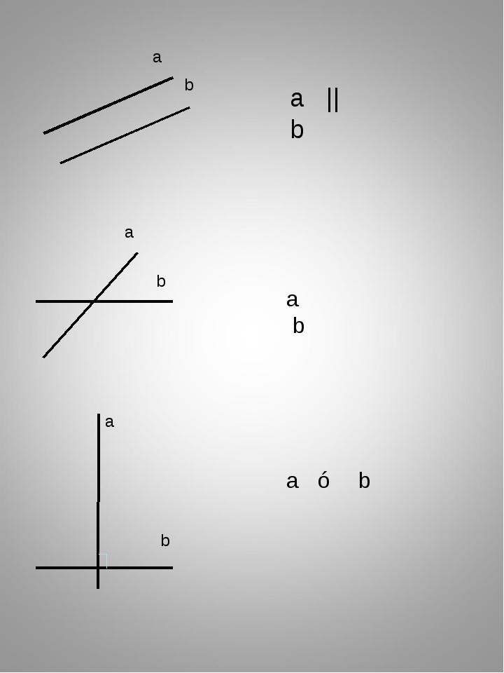 a ⊥ b а b a b a b a || b a b