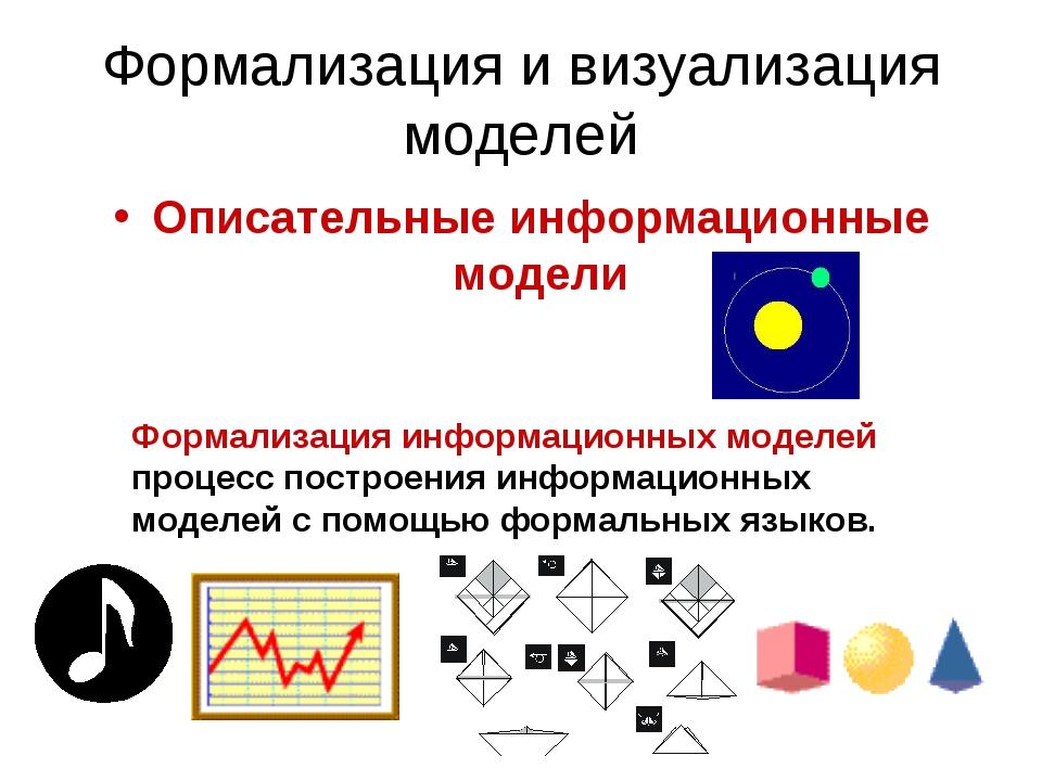 Формализация и визуализация моделей Описательные информационные модели Формал...