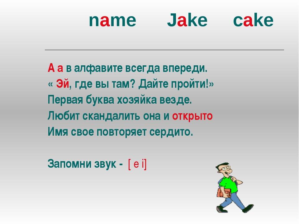name Jake cake А а в алфавите всегда впереди. « Эй, где вы там? Дайте пройти...