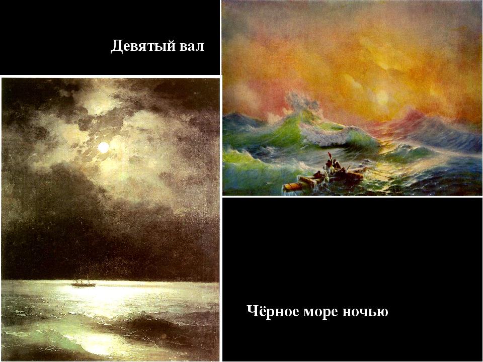 Девятый вал Чёрное море ночью