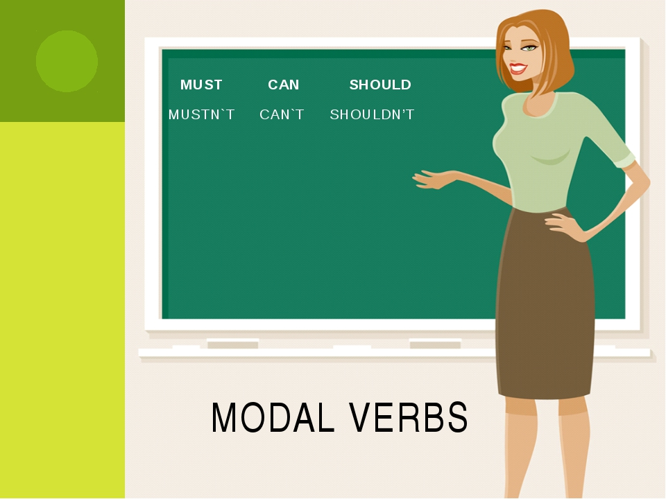 MODAL VERBS MUST CAN SHOULD MUSTN`T CAN`T SHOULDN'T