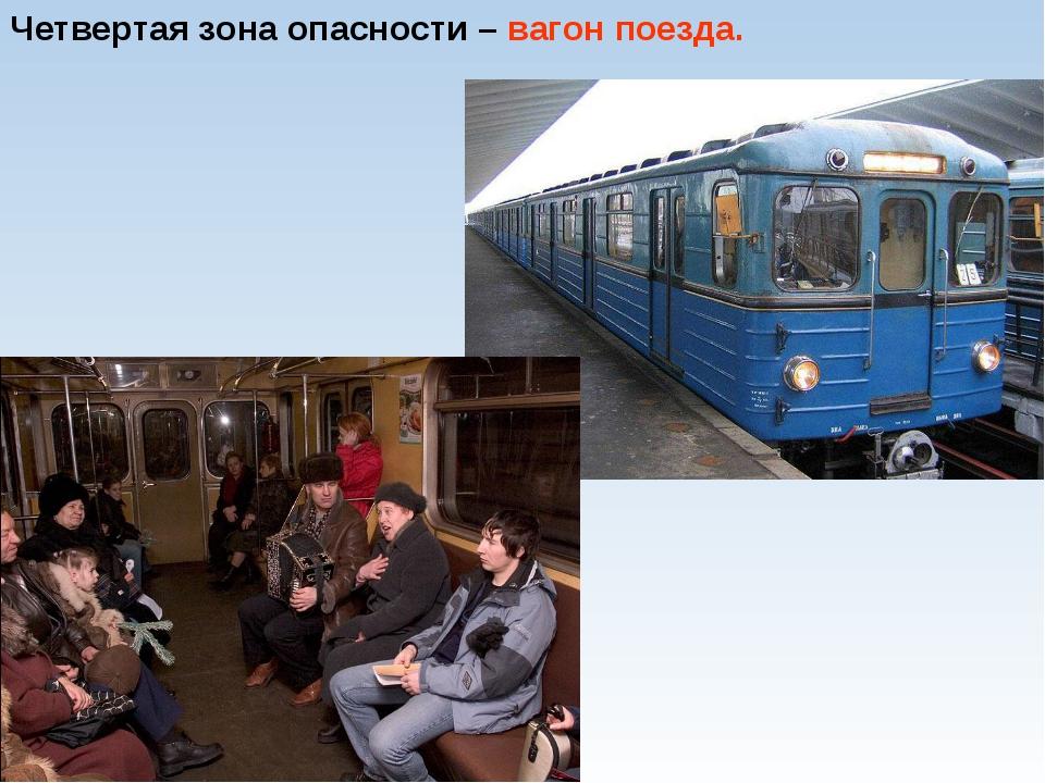 Четвертая зона опасности – вагон поезда.