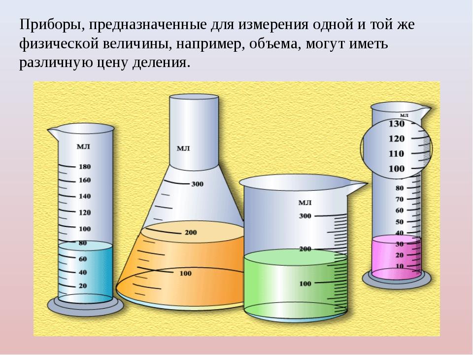 Приборы, предназначенные для измерения одной и той же физической величины, на...