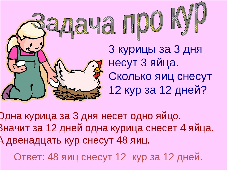 Одна курица за 3 дня несет одно яйцо. Значит за 12 дней одна курица снесет 4...