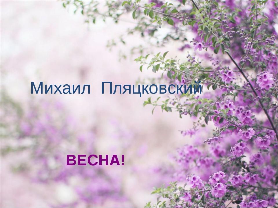 Михаил Пляцковский ВЕСНА!