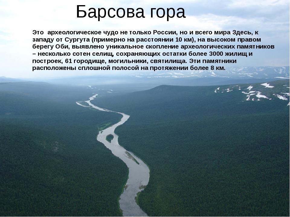 Барсова гора Это археологическое чудо не только России, но и всего мира Здесь...