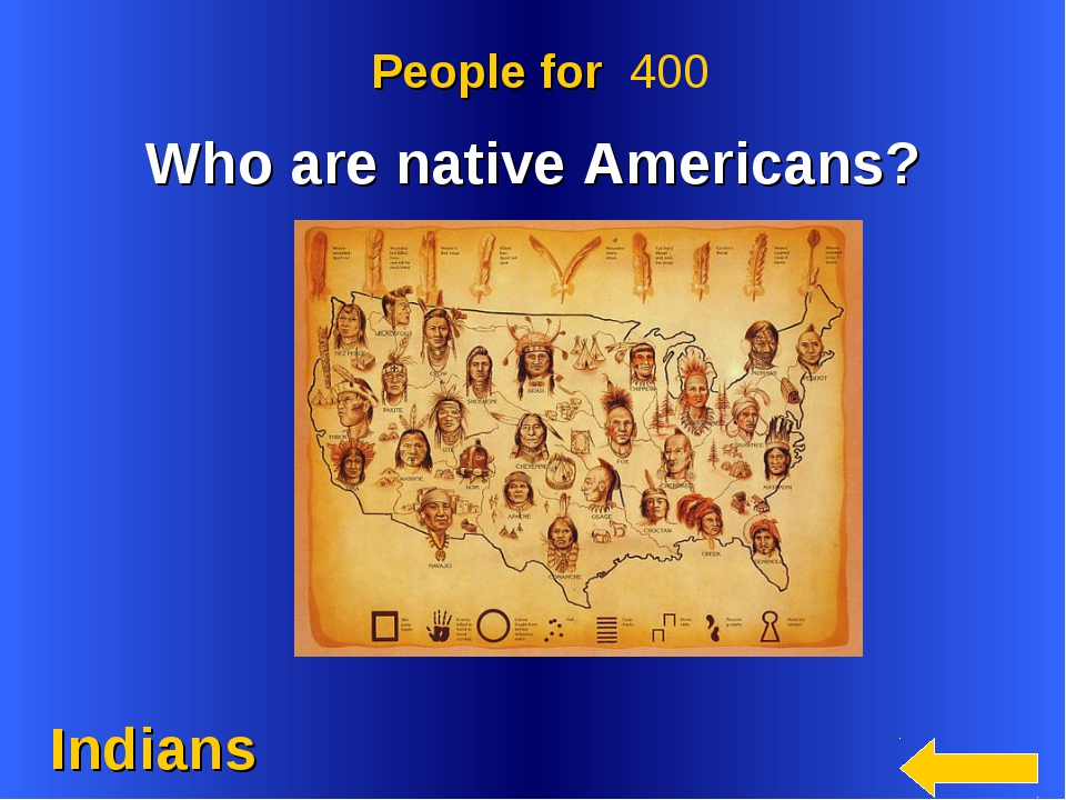 Indians People for 400 Who are native Americans?
