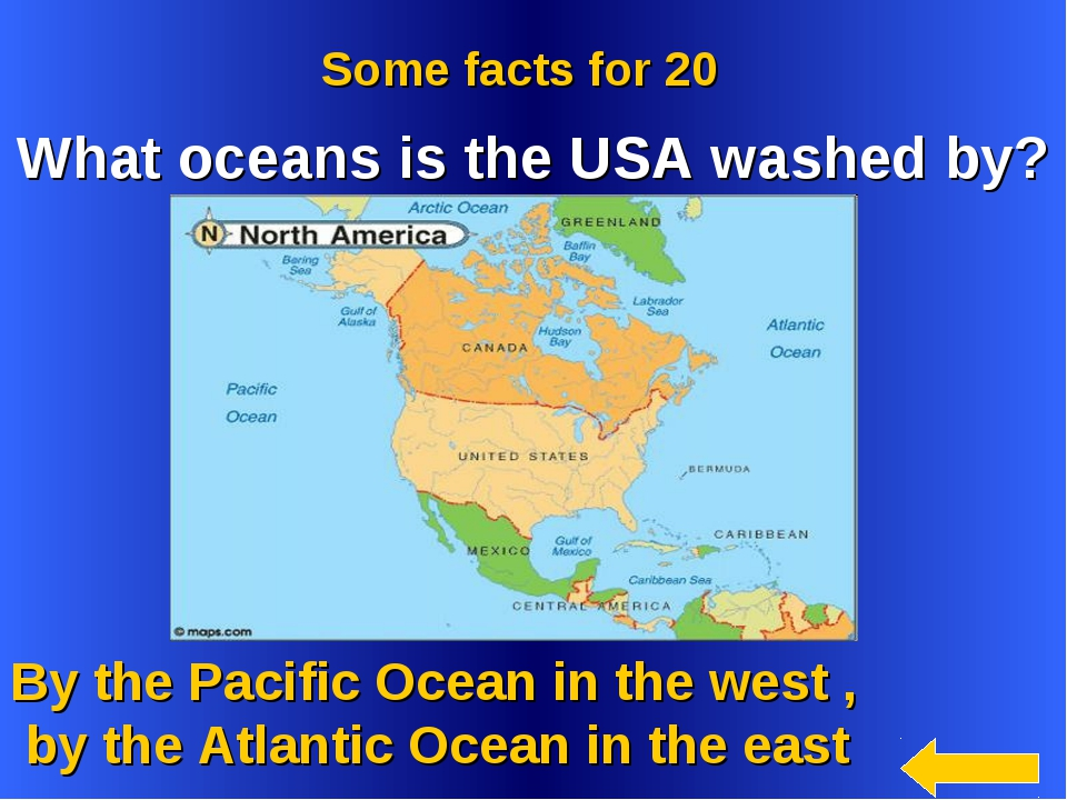 By the Pacific Ocean in the west , by the Atlantic Ocean in the east Some fa...