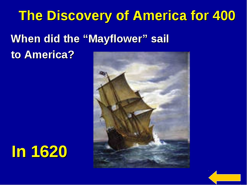 """The Discovery of America for 400 When did the """"Mayflower"""" sail to America? In..."""