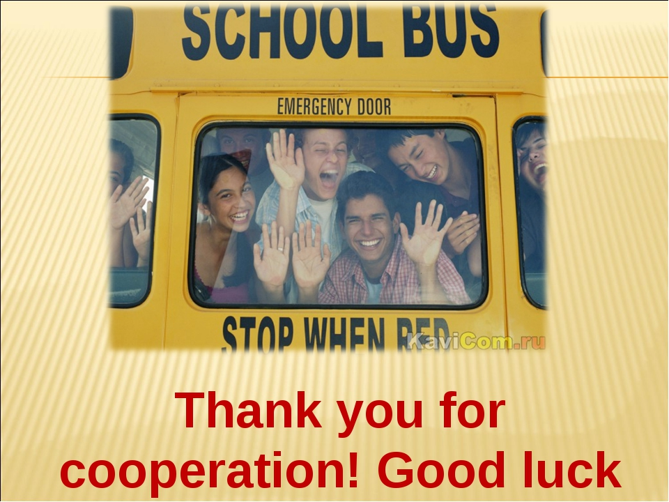 Thank you for cooperation! Good luck to you!