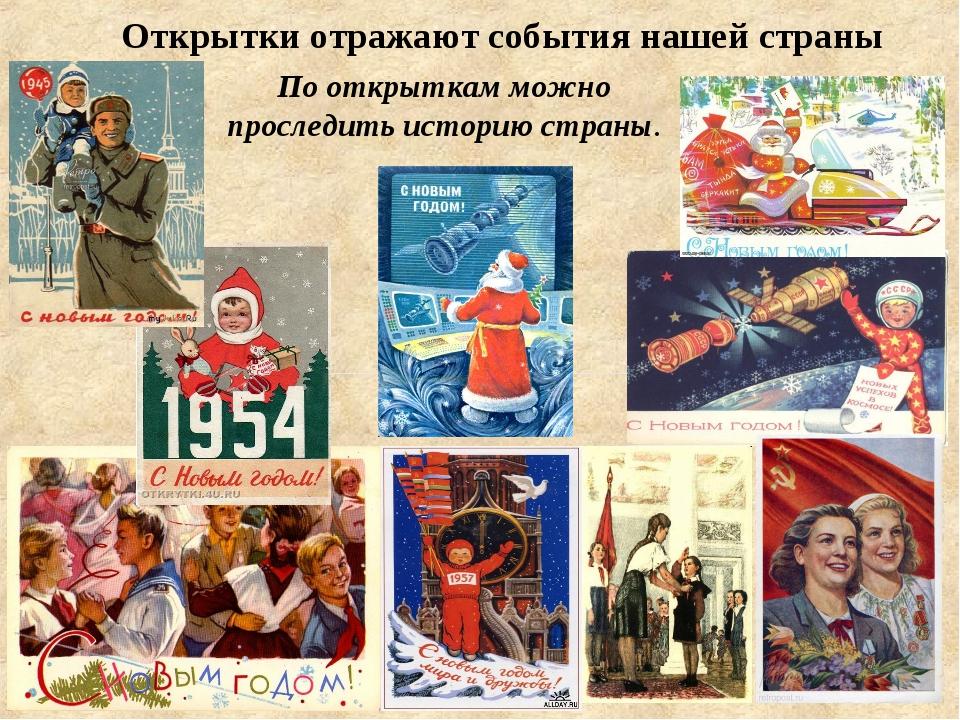 Российская история по открыткам, зимние слайд