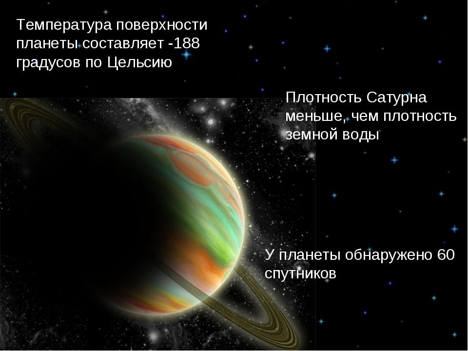 Температура поверхности планеты составляет -188 градусов по Цельсию Плотность...