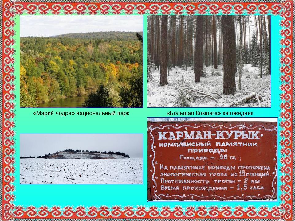 «Марий чодра» национальный парк «Большая Кокшага» заповедник