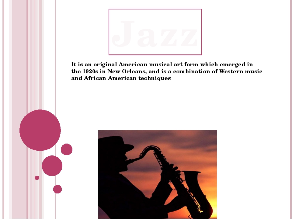 It is an original American musical art form which emerged in the 1920s in New...