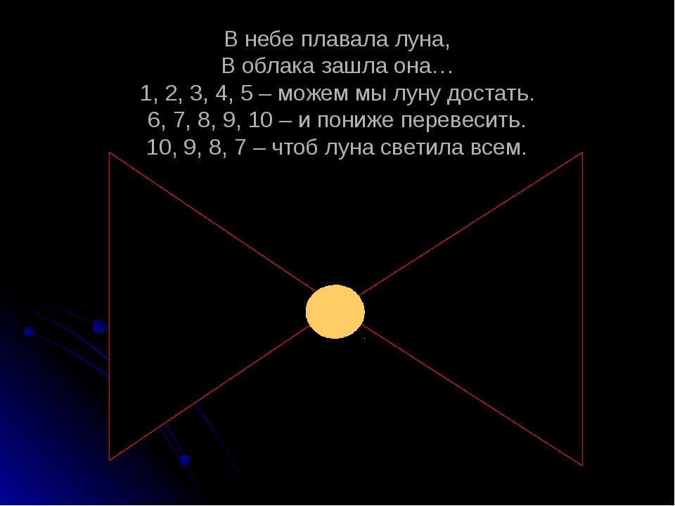 В небе плавала луна, В облака зашла она… 1, 2, 3, 4, 5 – можем мы луну достат...