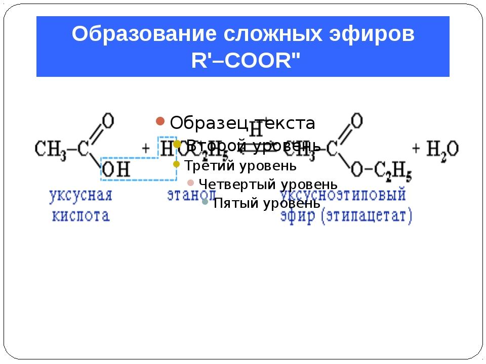 """Образование сложных эфиров R'–COOR"""""""
