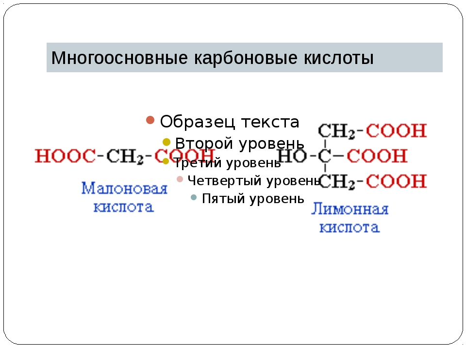 Многоосновные карбоновые кислоты
