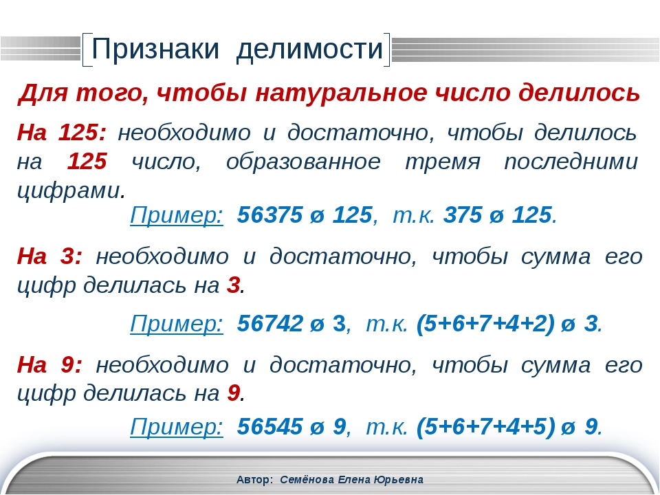 Автор: Семёнова Елена Юрьевна На 11: необходимо и достаточно, чтобы сумма его...