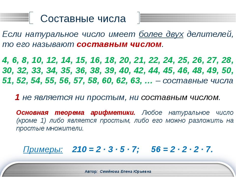 1, 2, 3, 4, 6, 8, 12, 16, 24, 32, 48, 96 Делители числа 72: Автор: Семёнова Е...