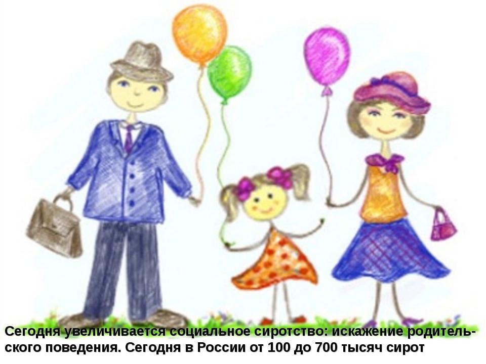 Сегодня увеличивается социальное сиротство: искажение родитель-ского поведени...