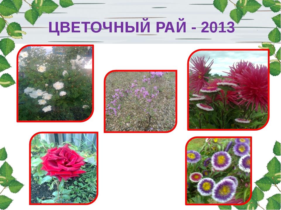 ЦВЕТОЧНЫЙ РАЙ - 2013