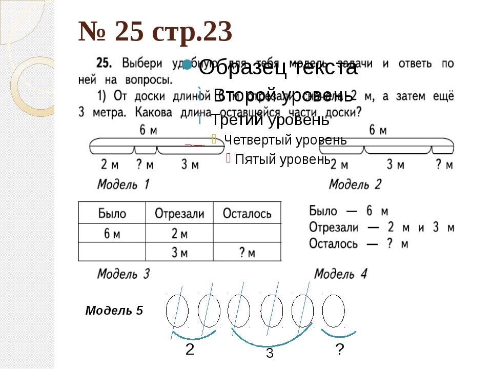 № 25 стр.23 Модель 5