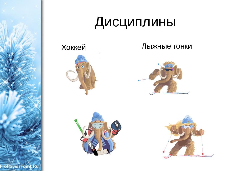 Дисциплины Хоккей Лыжные гонки ProPowerPoint.Ru