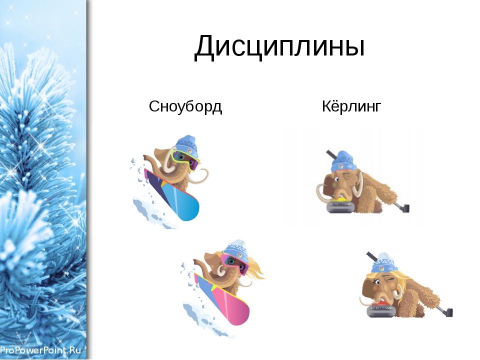 Дисциплины Сноуборд Кёрлинг ProPowerPoint.Ru