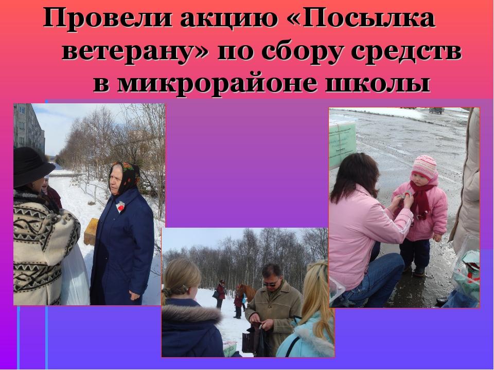 Провели акцию «Посылка ветерану» по сбору средств в микрорайоне школы