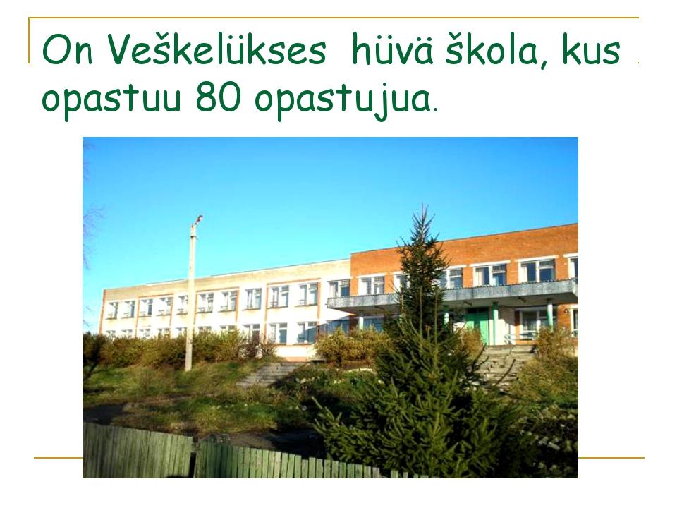 On Veškelükses hüvä škola, kus opastuu 80 opastujua.