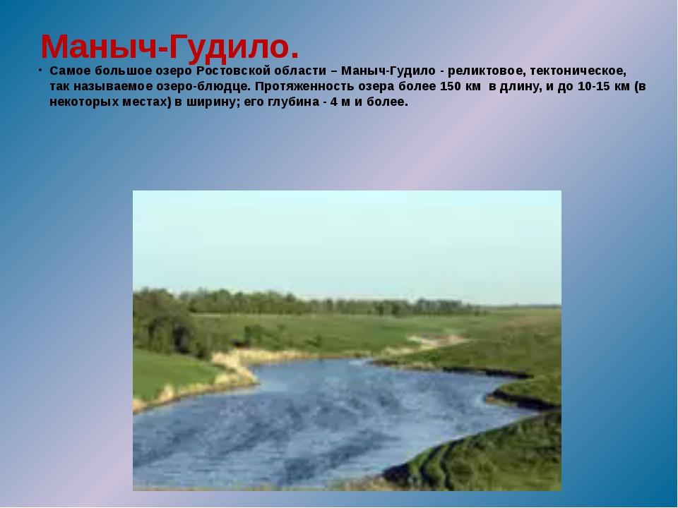 Маныч-Гудило. Самое большое озеро Ростовской области – Маныч-Гудило - реликто...