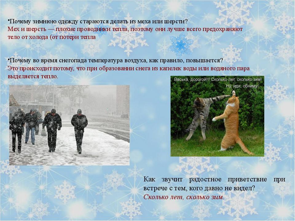 Почему зимнюю одежду стараются делать из меха или шерсти? Мех и шерсть — пло...