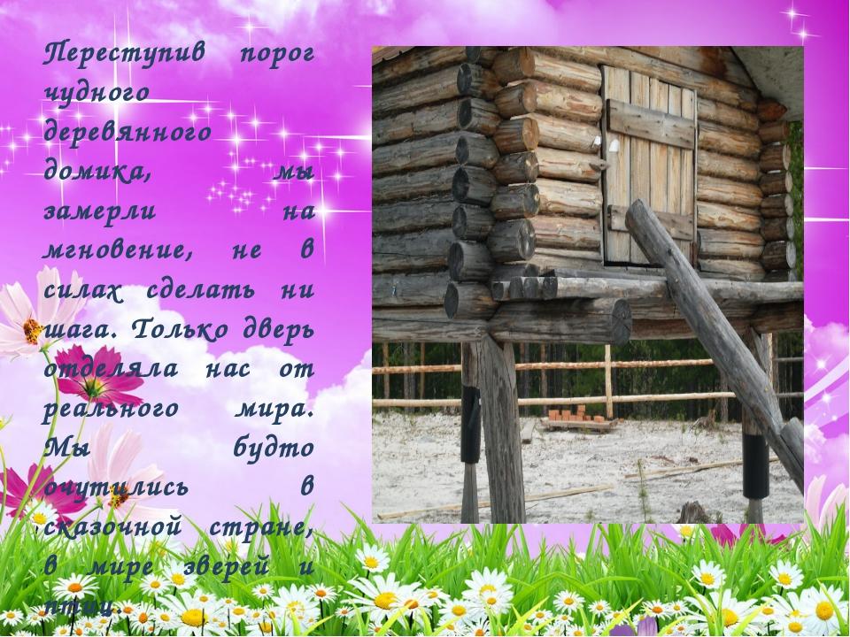 Переступив порог чудного деревянного домика, мы замерли на мгновение, не в си...