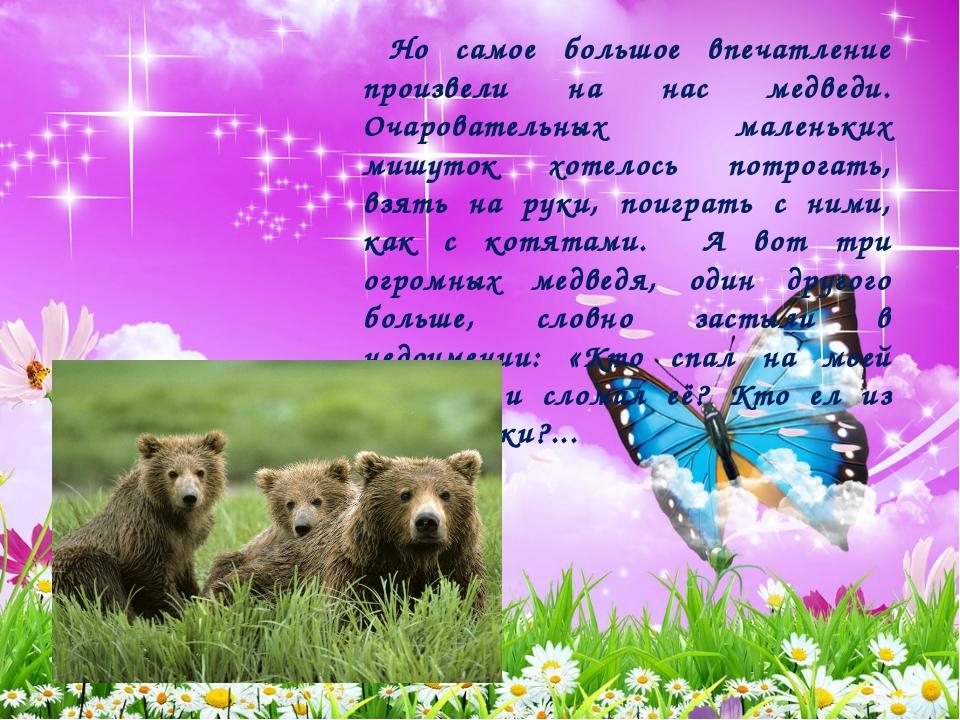 Но самое большое впечатление произвели на нас медведи. Очаровательных малень...