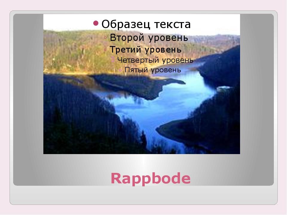 Rappbode