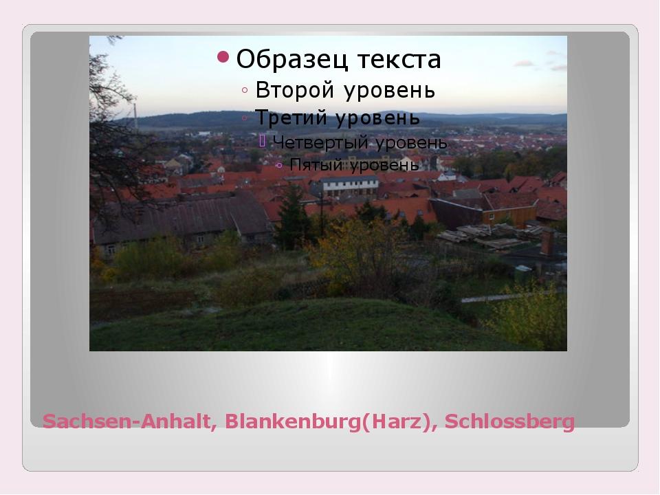 Sachsen-Anhalt, Blankenburg(Harz), Schlossberg
