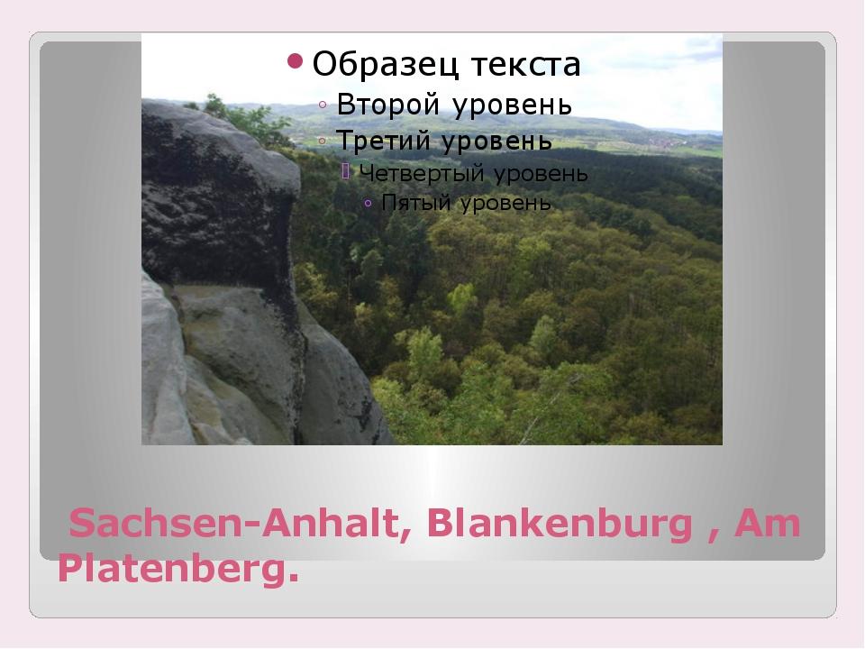 Sachsen-Anhalt, Blankenburg , Am Platenberg.