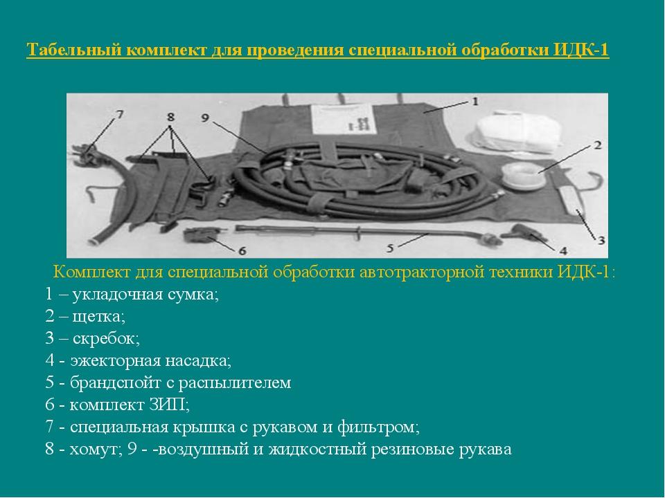 Табельный комплект для проведения специальной обработки ИДК-1 Комплект для сп...