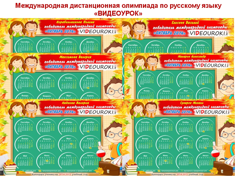 Международная дистанционная олимпиада по русскому языку «ВИДЕОУРОК»