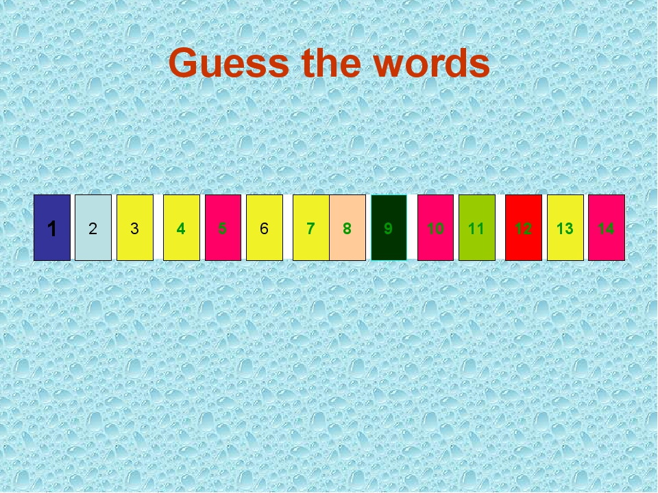 Guess the words 6 3 2 1 4 7 14 9 10 5 13 8 12 11