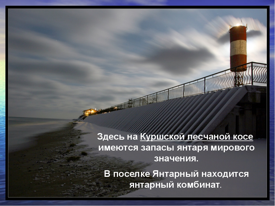 Здесь на Куршской песчаной косе имеются запасы янтаря мирового значения. В по...