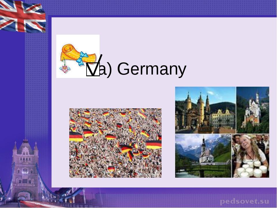 a) Germany