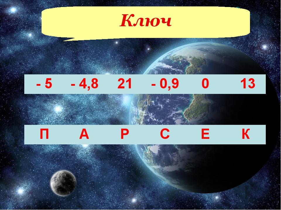 Ключ - 5- 4,821- 0,90 13 ПАРСЕК