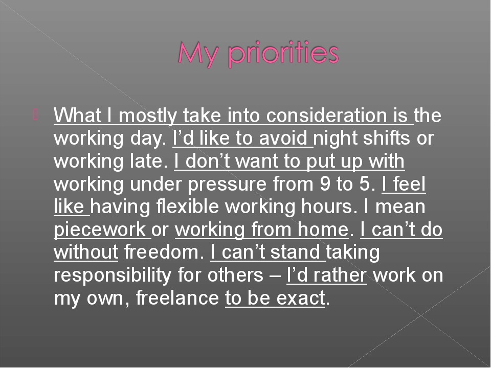 What I mostly take into consideration is the working day. I'd like to avoid n...
