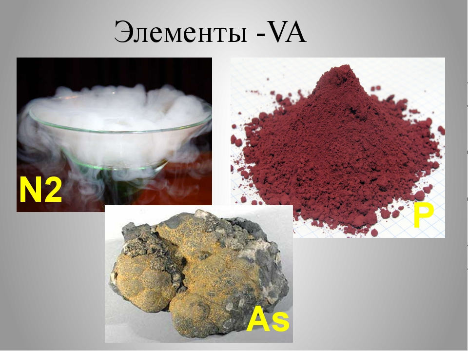 Элементы -VA N2 P As