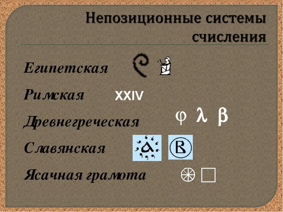 Египетская Римская Древнегреческая Славянская Ясачная грамота XXIV  