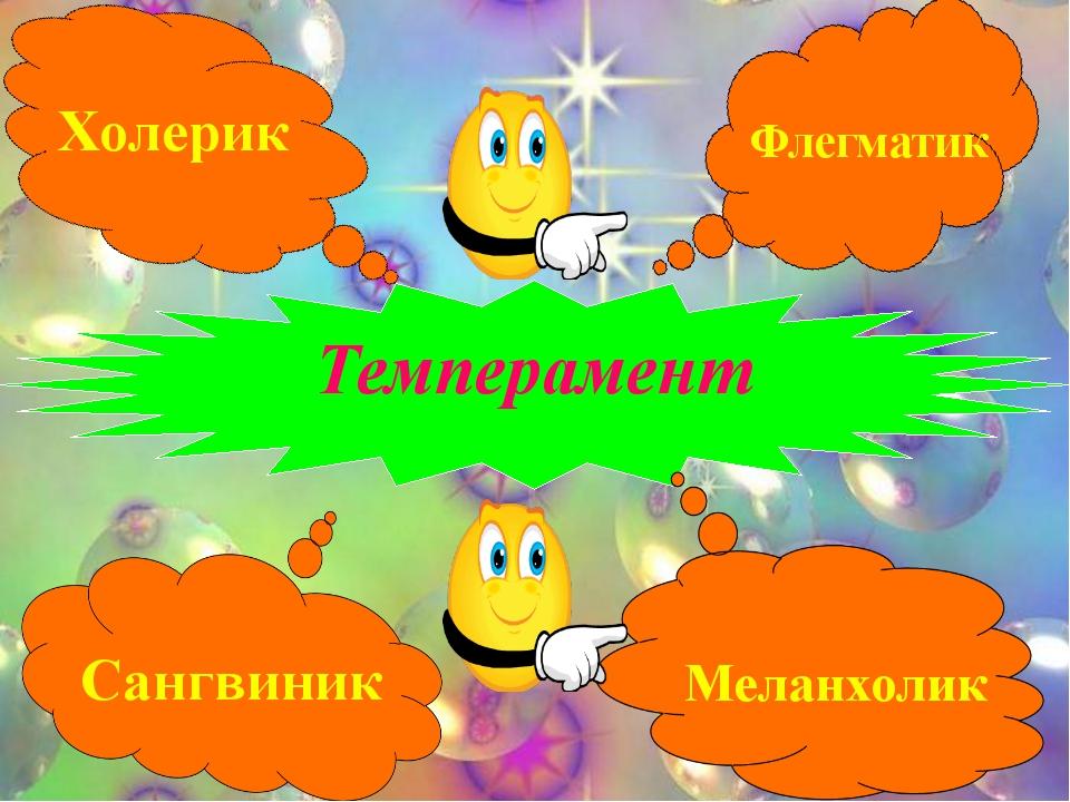 Темперамент Холерик Флегматик Сангвиник Меланхолик