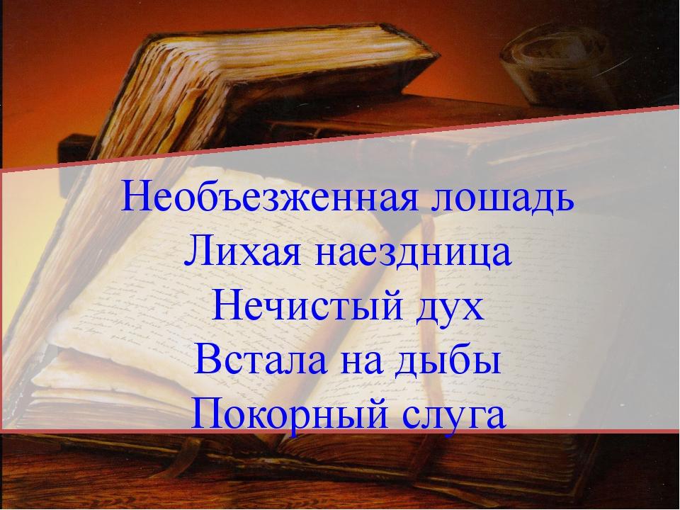 Необъезженная лошадь Лихая наездница Нечистый дух Встала на дыбы Покорный сл...