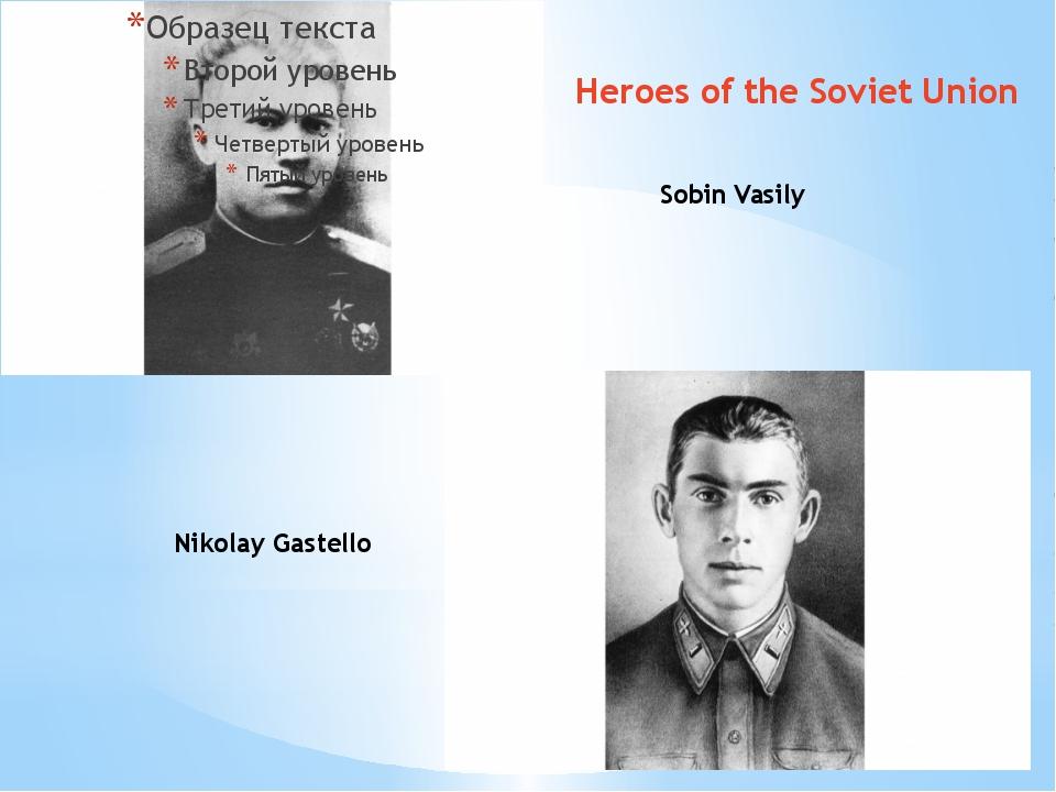 Sobin Vasily Nikolay Gastello Heroes of the Soviet Union