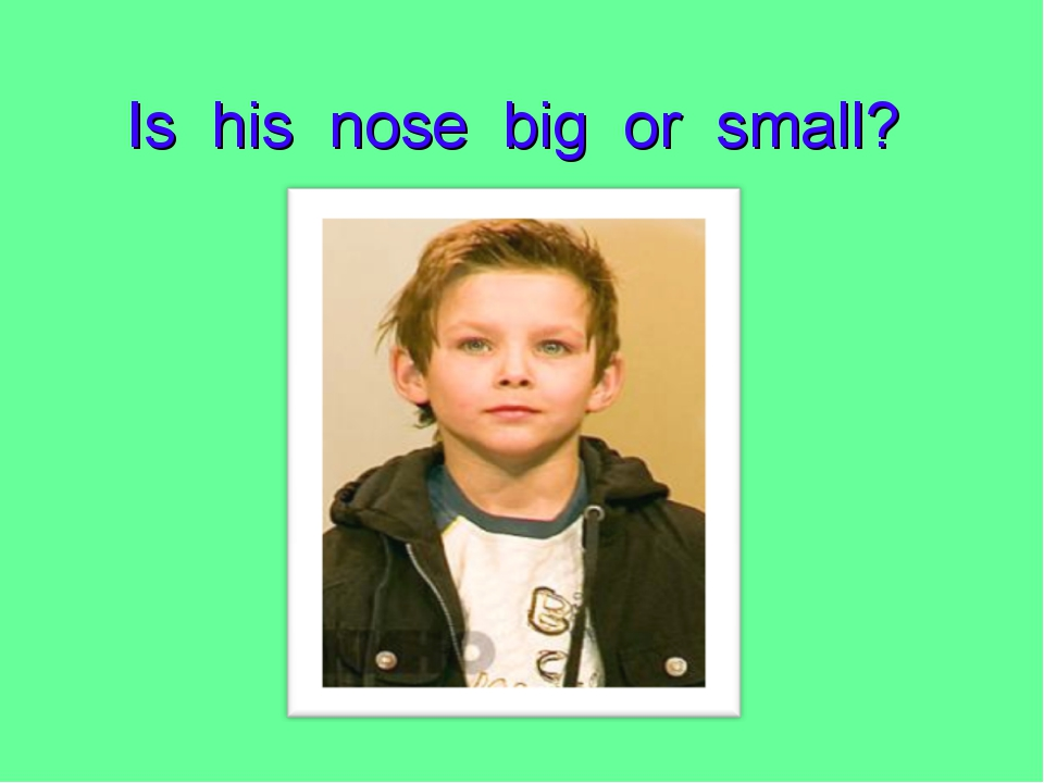 Is his nose big or small?